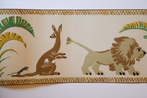 BRUNSCHWIG /& FILS Border Wallpaper Baby Kids Jungle theme  Zebra Lion Safari