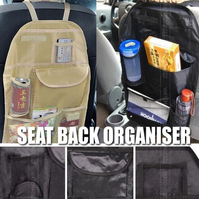 1PC CAR AUTO TRAVEL SEAT BACK BAG POCKET STORAGE HOLDER ORGANISER KICK MAT COVER