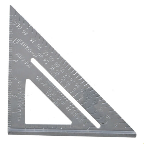Metric Aluminum Alloy Speed Square Triangle Angle Protractor Ruler Woodworking