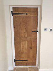 Image is loading Solid-Oak-ledged-door-plugged-and-screw-bead- & Solid Oak ledged door plugged and screw bead n butt profile new 2\u00270 ...