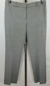Ann Taylor Womens Ladies Gray Straight Leg Dress Pants Size 14