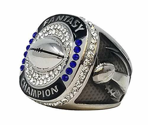 Silver Finish by DECADE AWARDS Fantasy Football Championship Ring
