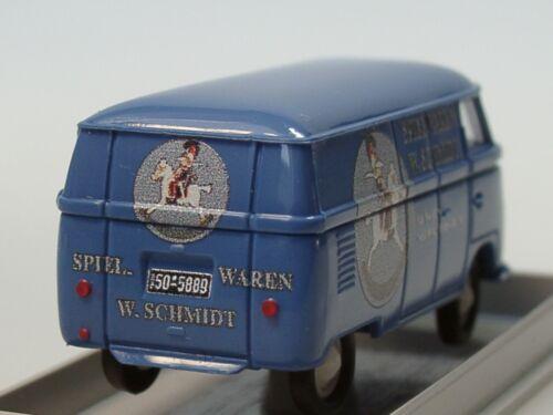Sondermodell Brekina VW T1 Kasten Spielwaren SCHMIDT München lim 150-1//87