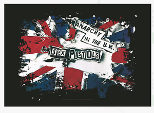 FABRIC POSTER 30x40 WALL HANGING ANARCHY SEX PISTOLS MUSIC HFL0818
