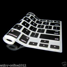 "US Ship Silicone Keyboard Cover Skin for Apple Macbook Pro MAC 13"" 15"" 17"" Black"