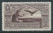1930 REGNO POSTA AEREA VIRGILIO 7,70 LIRE MNH ** - Y110
