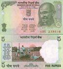 Inde - India billet neuf de 5 rupees pick 88A UNC