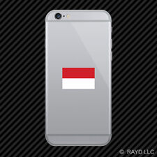 Indonesian Flag Cell Phone Sticker Mobile Indonesia IDN ID