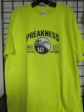 2016 PREAKNESS 141 - MAY 21 - PIMLICO - BALTIMORE  YELLOW - X-LARGE LOGO SHIRT