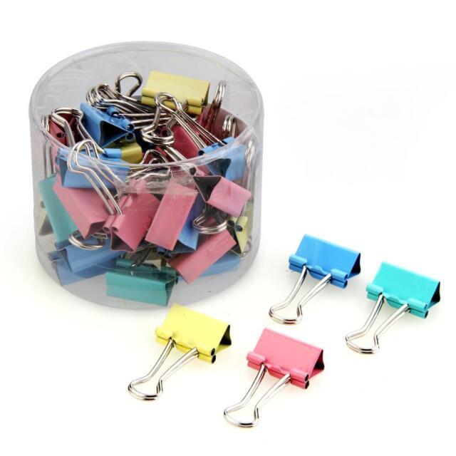 40pcs 19mm Colored Binder Clips Home Office School Teacher