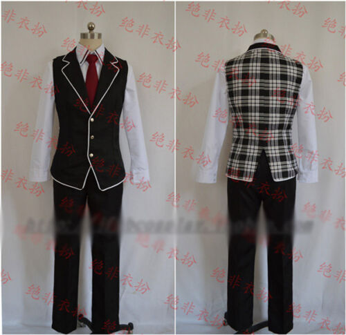 Diabolik Lovers Reiji Sakamaki Cosplay Costume  Childhood Vest Uniform Free Ship