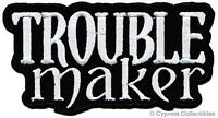 Trouble Maker Embroidered Iron-on Patch - Rebel Outlaw Biker Motorcycle Emblem