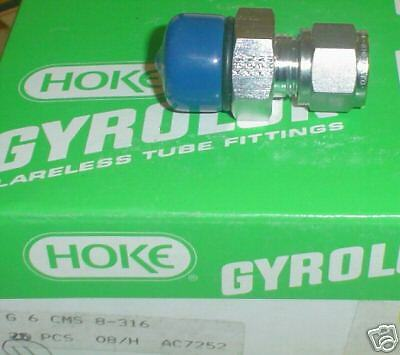 New 6CMS8-316 Hoke male connector 3//8 compression x 1//2 SAE