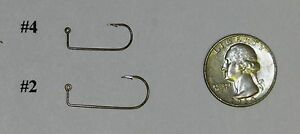 Details about 100 MUSTAD 32889BR Crappie Lite Wire Jig Hooks DO IT Molds U  Pick size #4 2 or 1