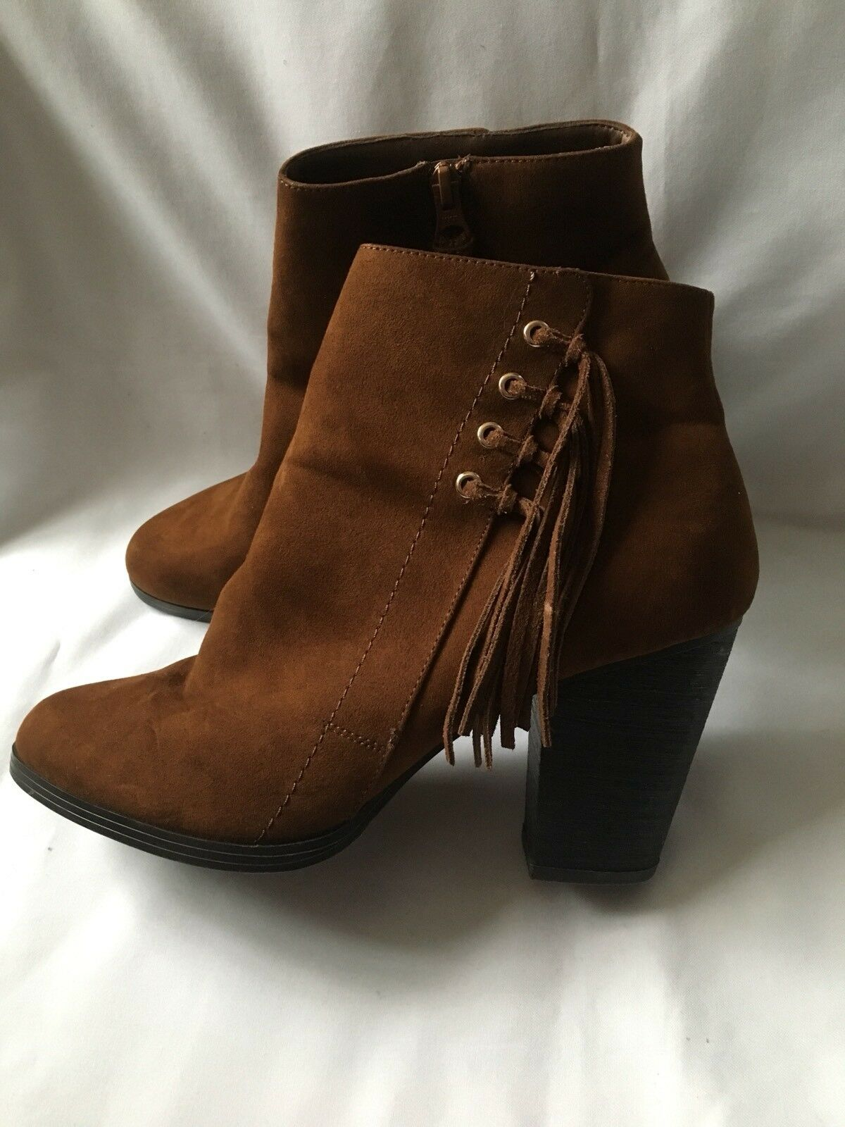 New Look Women's Suede Brown Ankle Boots Size 8(42)