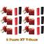 6 Paare XT Dean T-Stecker T-Dean T-Plug T-Connector Schrumpf Goldstecker RC