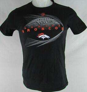 buy online 3164b dab77 Details about Denver Broncos NFL Team Apparel Youth Black Short Sleeve  T-Shirt