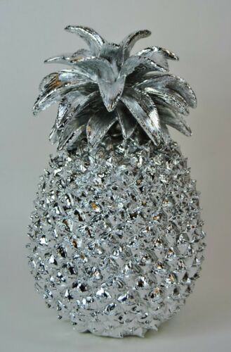 Quirky Modern Large Silver Pineapple Table Decoration Ornament