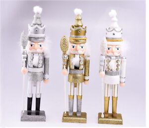 Christmas-Glitter-Wooden-Walnut-Soldiers-Nutcracker-Xmas-Decoration-Ornament