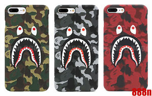 sports shoes 36f30 82e86 Details about A Bathing Ape Bape ABC Camo Shark Phone Case Cover For iPhone  X 8 7 Plus 6 6S