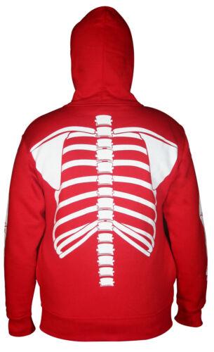 Homme plein visage Masque Squelette Crâne Sweat À Capuche Sweat-shirt costume Halloween T-Shirt