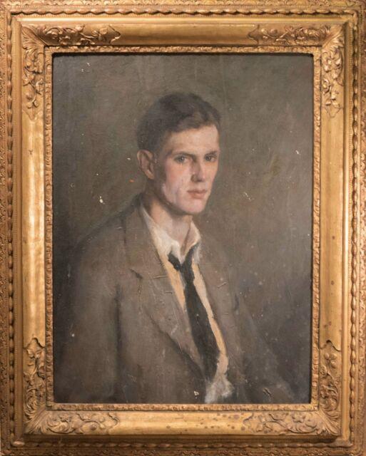 """Ferdinand Louis """"Fritz"""" Schlemmer Original Oil Painting Portrait, RARE & Beautif"""