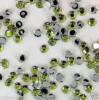 ca. 100 Strasssteine Lime, Grösse: 2mm, in Zip-Tüte, Strass, Steine, Nr. B12