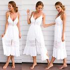 Women's Summer Beach Sundress Boho V-neck Evening Party Cocktail Long Maxi Dress