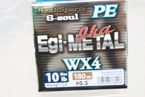 YGK Real Sports G-soul PE EGI /& METAL WX4 PE 180m HANGER PACK 10lb #0.5