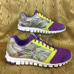 5a5444eb4f5 REEBOK REALFLEX SCREAM 2.0 V48100 purple running walking shoes ...