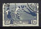 France 1938 3ème Coupe mondiale de football Yvert n° 396 oblitéré 1er choix (1)