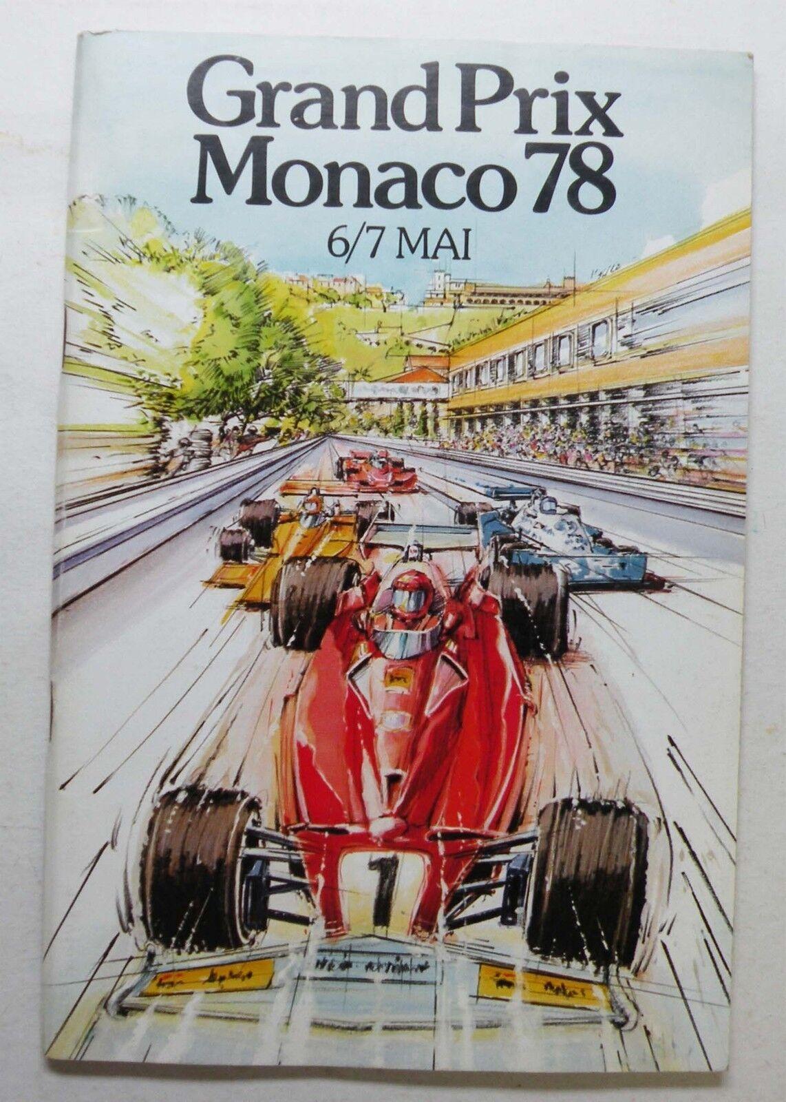 Programme officiel Grand Prix de Monaco 1978 1978 1978 92c88d