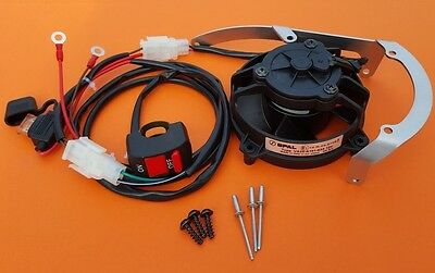 KTM/ HUSQVARNA/ HUSABERG/ 2T & 4T COMPLETE SET FAN VENTILATOR COOLER with SWITCH