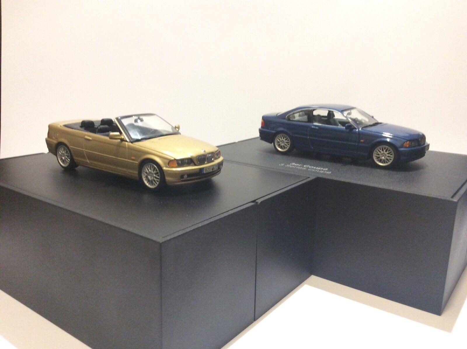 2 BMW E46 Coupé & Cabriolet Minichamps 1 43