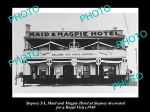 OLD-LARGE-HISTORICAL-PHOTO-OF-THE-MAID-amp-MAGPIE-HOTEL-STEPNEY-SA-c1940