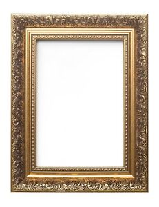 Ornate-Swept-Antique-Picture-Frame-Photo-Frame-With-Mount-French-Style