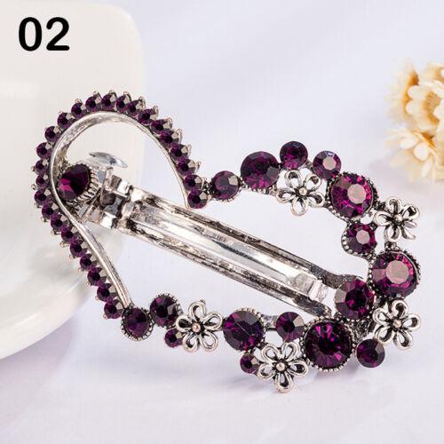 Women Hair Clip Leaf Crystal Hairpin Barrette Headwear Hair Accessories Jewelry