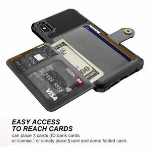 Coque iPhone 11 Pro Max Etui de protection multifonction iPhone 11 Pro Max pu coque Support Fente pour carte Cadre photo