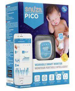 NEW Snuza Pico Smart Wearable Baby Monitor Vibration Audio Alerts Rechargable