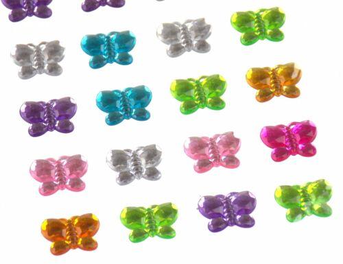 Butterflies Self Adhesive Gems Stick On 15mm 140 pcs Lot 5 Triveni Crafts Cards