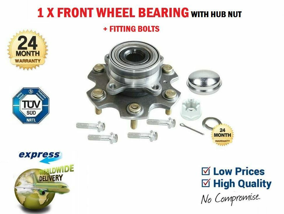 FORD MONDEO Mk3 TDCi TDDi X2 FRONT WHEEL BEARING WITH ABS KIT NUT 2000/>2007