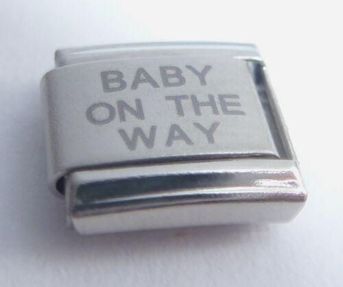 Bebé en camino encanto italiano-nuevo bebés 9mm se adapta Classic embarazada pulseras