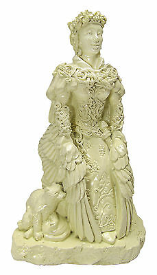Small Freya Statue   Bone Finish   Dryad Designs   Goddess Norse Wiccan Pagan