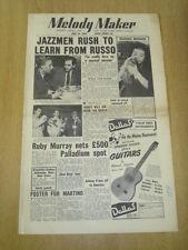 MELODY MAKER 1955 JUNE 18 BILL RUSSO RUBY MURRAY LONDON PALLADIUM BBC SHOW BAND