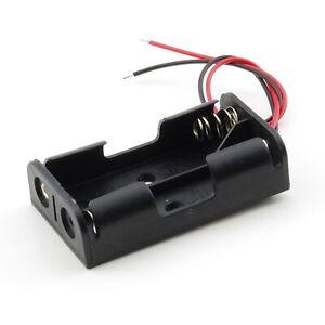 Batteriehalter für 1x Mignon-Zelle AA mit Anschlußkabel rot//schwarz