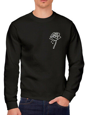 Teen Gift Insta Snap emoji Youth /& Mens Sweatshirt Rose Pocket Logo