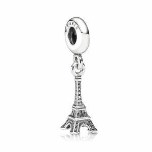 Pandora-Sterling-Silver-S925-Paris-Eiffel-Tower-Pendant-Charm-Free-Pouch
