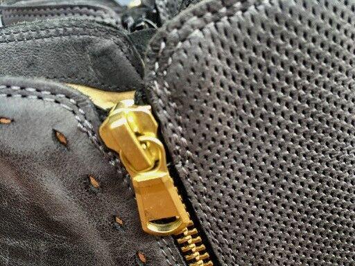 SUPER STYLISCHE STIEFELETTEN wie AUS ROM LEDER 38 GRAU Zipper Echtes Leder wie STIEFELETTEN NEU 195ce2