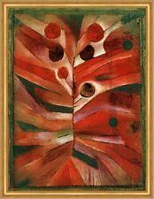 Federpflanze Paul Klee Pflanze Stärke Wachsen Entfalten rot grün LW H A1 0372
