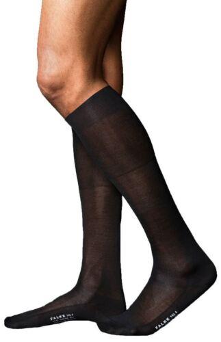 Falke Mens No4 Pure Silk Knee High Socks Black